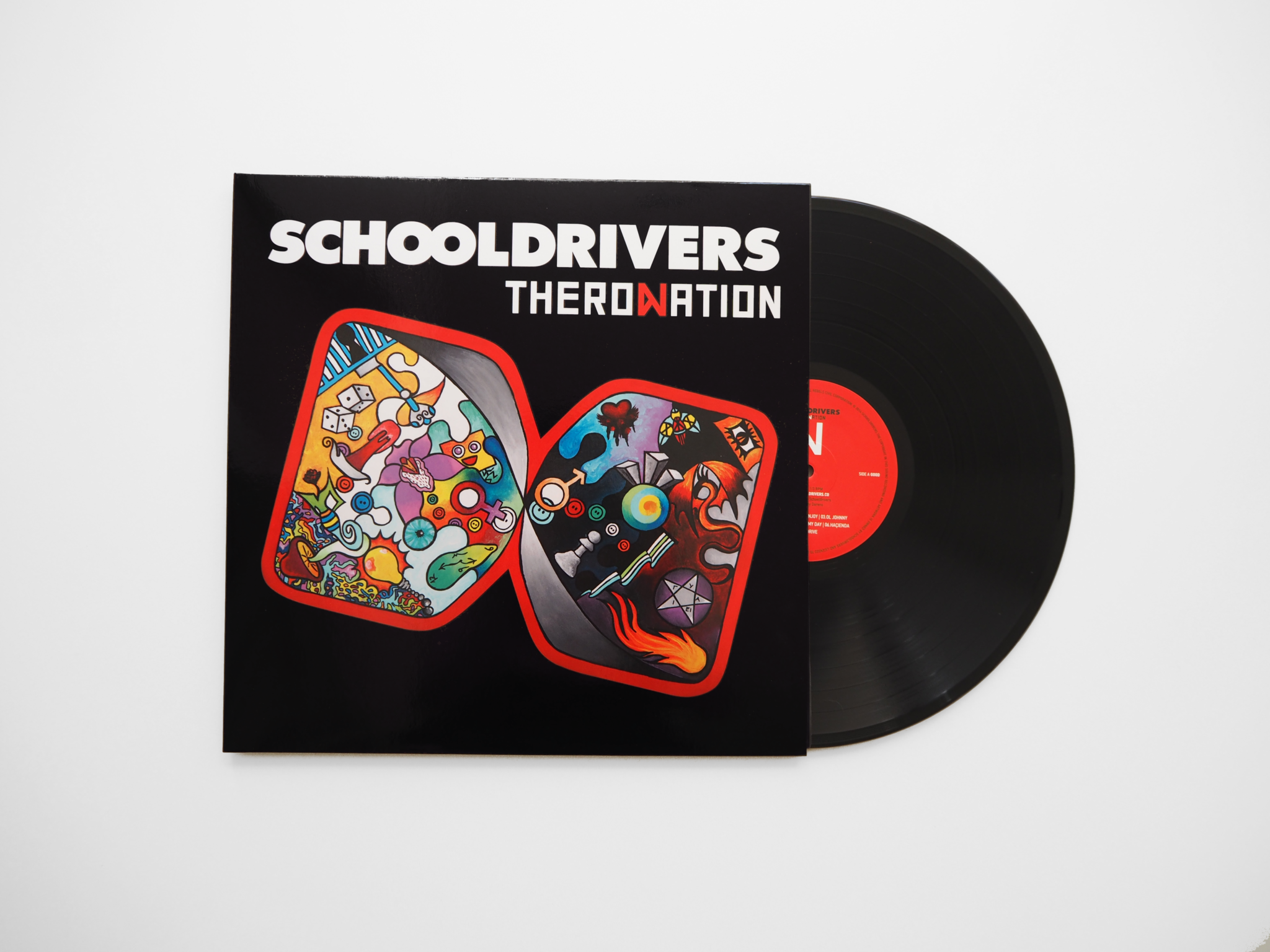 Theronation: A modern rock audiophile vinyl album by Schooldrivers